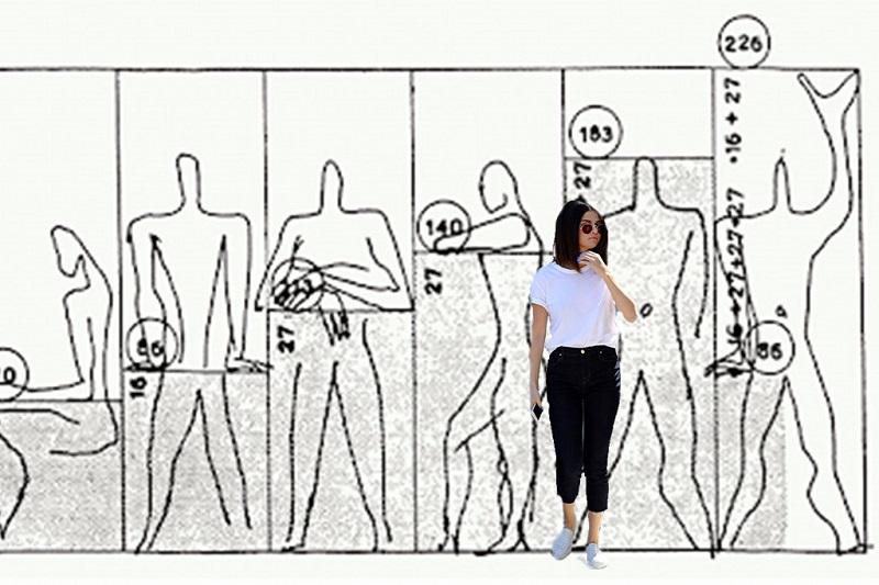Comparativa del tamaño del Modulor con el de Selena Gómez